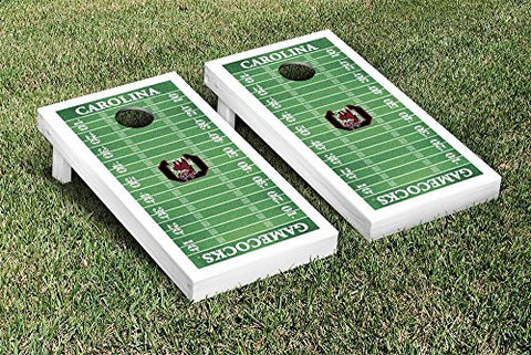 Picture of South Carolina Gamecocks Cornhole Game Set Football Field Version