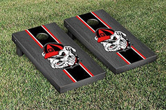 Georgia Bulldogs Cornhole Game Set Onyx Stained Stripe Version 3