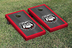 Georgia Bulldogs Cornhole Game Set Onyx Stained Border Version 1