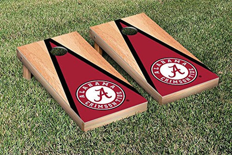 Picture of Alabama Crimson Tide Cornhole Game Set Hardcourt Traingle Version 1
