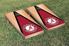Alabama Crimson Tide Cornhole Game Set Hardcourt Traingle Version 1