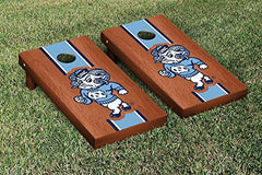 North Carolina Tar Heels Cornhole Game Set Rosewood Stained Stripe Version 2
