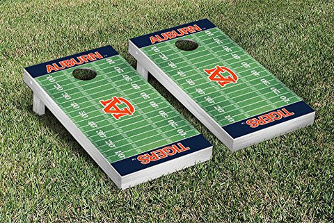 Picture of Auburn Tigers Cornhole Game Set Football Field Version