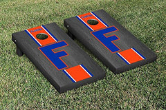 Florida Gators Cornhole Game Set Onyx Stained Stripe Version College Vault