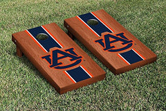 Auburn Tigers Cornhole Game Set Rosewood Stained Stripe Version