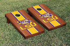 LSU Tigers Cornhole Game Set Rosewood Stained Version