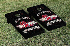 Ole Miss Rebels Cornhole Game Set Banner Vintage Version