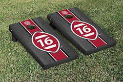 Alabama Crimson Tide Cornhole Game Set Onyx Stained Stripe Version National Champions 2015