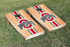 Ohio State Buckeyes Cornhole Game Set Hardcourt Stripe Version