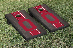 Oklahoma Sooners Cornhole Game Set Onyx Stained Stripe Version College Vault