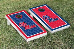 Ole Miss Rebels Cornhole Game Set Border Version 2