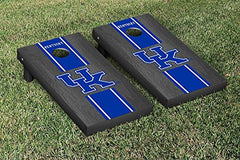 Kentucky Wildcats Cornhole Game Set Onyx Stained Stripe Version 1