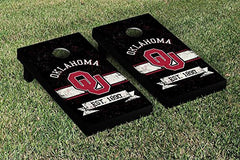 Oklahoma Sooners Cornhole Game Set Banner Vintage Version