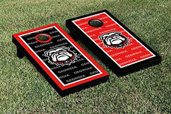 Georgia Bulldogs Cornhole Game Set Border Version 2