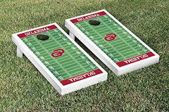 Oklahoma Sooners Cornhole Game Set Football Version