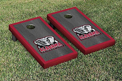 Alabama Crimson Tide Cornhole Game Set Onyx Stained Border Version 1