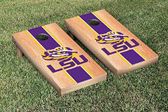 LSU Tigers Cornhole Game Set Hardcourt Stripe Version