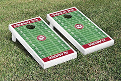 Alabama Crimson Tide Cornhole Game Set Football Field Version