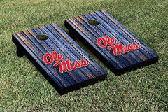 Ole Miss Rebels Cornhole Game Set Weathered Version