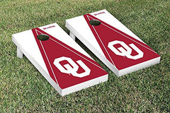 Oklahoma Sooners Cornhole Game Set Triangle Version