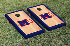 Ole Miss Rebels Cornhole Game Set Hardcourt Border Version College Vault
