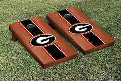 Georgia Bulldogs Cornhole Game Set Rosewood Stained Stripe Version 1
