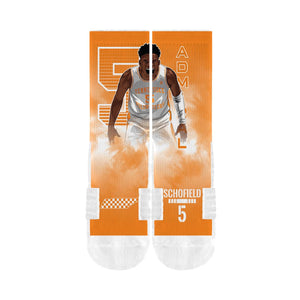 Admiral Schofield - Tennessee Volunteers Player Crew Socks - Orange