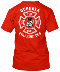 Georgia Bulldogs Firefighter Tshirt