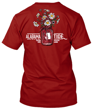Alabama Crimson Tide Flower Bouquet and Southern Charm Tshirt