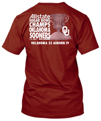 Oklahoma Sooners 2017 Sugar Bowl Champs Shirt