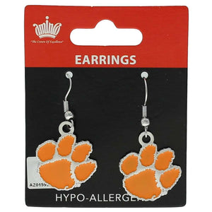 Clemson Tigers Dangle Earrings