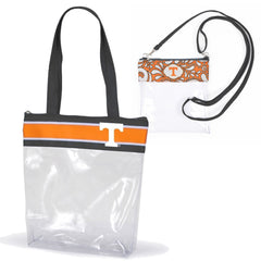 Tennessee Volunteers Clear Tote Bags for Stadium - 2 pack of Large and Small Size