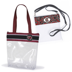 South Carolina Gamecocks Clear Tote Bags for Stadium - 2 pack of Large and Small Size