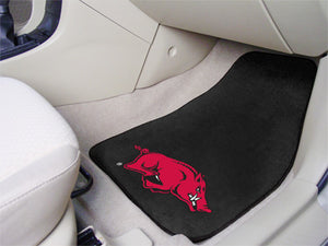 Arkansas Razorbacks 2-Pc Carpet Car Mat Set