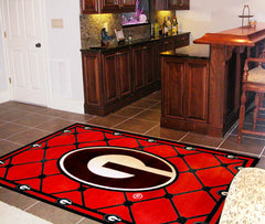 Georgia Bulldogs 4X6 Rug