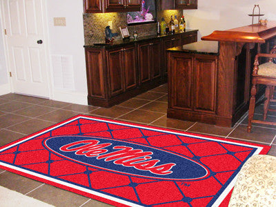 Ole Miss Rebels 5X8 Rug