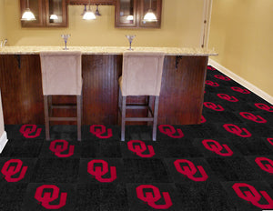 Oklahoma Sooners Team Carpet Tiles
