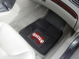 Mississippi State Bulldogs 2-Pc Vinyl Car Mat Set