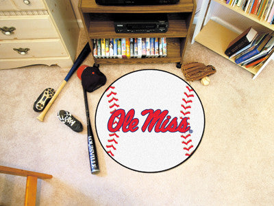 Ole Miss Rebels Baseball Mat