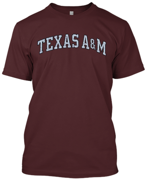 Texas A&M Word Logo T-shirt(714)