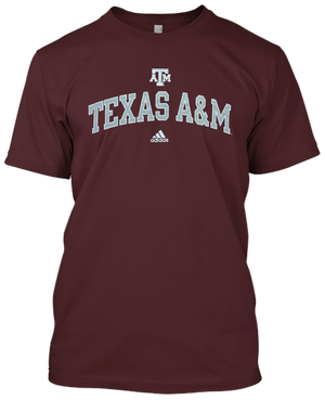 Texas A&M Logo Adidas T-shirt(709)