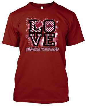 Arkansas Razorbacks Love T-shirt