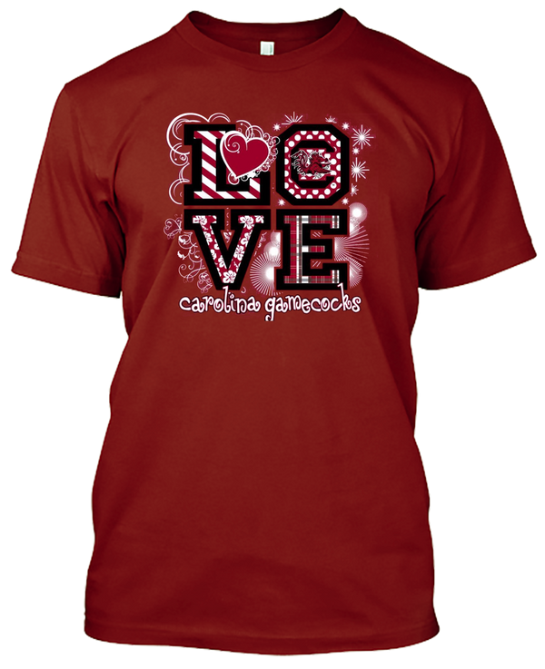 South Carolina Gamecocks Love T-shirt