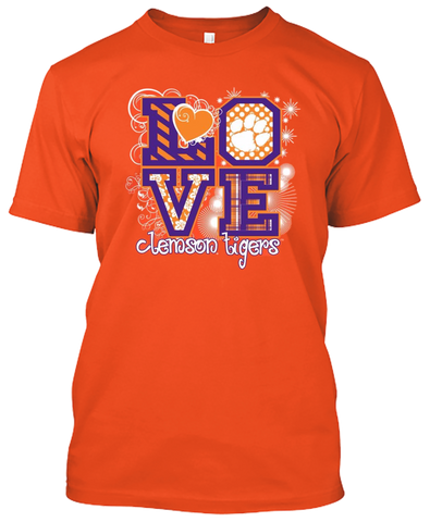 Picture of Clemson Tigers Love T-shirt