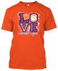 Clemson Tigers Love T-shirt