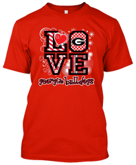 Georgia Bulldogs Love T-shirt
