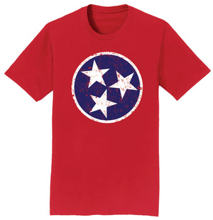 Tennessee Tri-Star Tennessee Flag T-shirt - 3 Colors