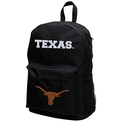 NCAA Texas Longhorns Sprint Backpack, 18-Inch, Black/Black