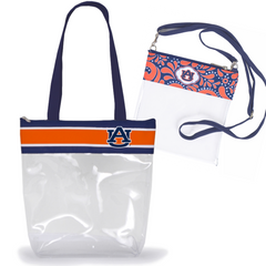 Auburn Tigers Clear Stadium Tote Combo of 2 - Large and Cross Body
