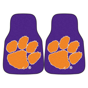 Clemson Tigers 2-Pc Carpet Car Mat Set